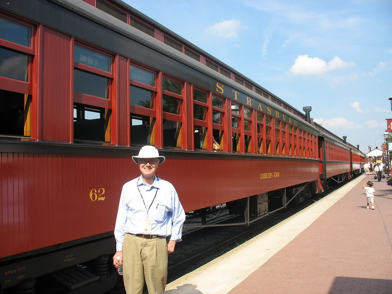 Bob next to the train on which we rode.