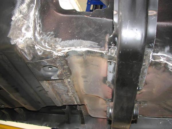 New driver's side floor pan.