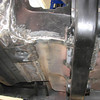 New driver's side floor pan, underside view.