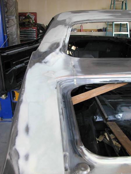 Driver's side trunk gap body work repair.
