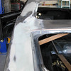 Driver's side trunk gap body work repair.