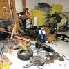 Gas tank, spare tire, heater box, grill, dash frame among other misc parts.
