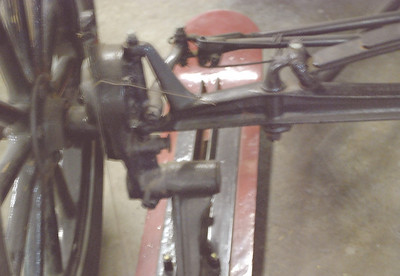 Ford 1921 Model T Snowmobile ski mounting