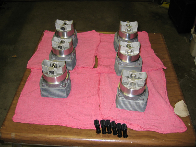 Ready to put pistons into the case.