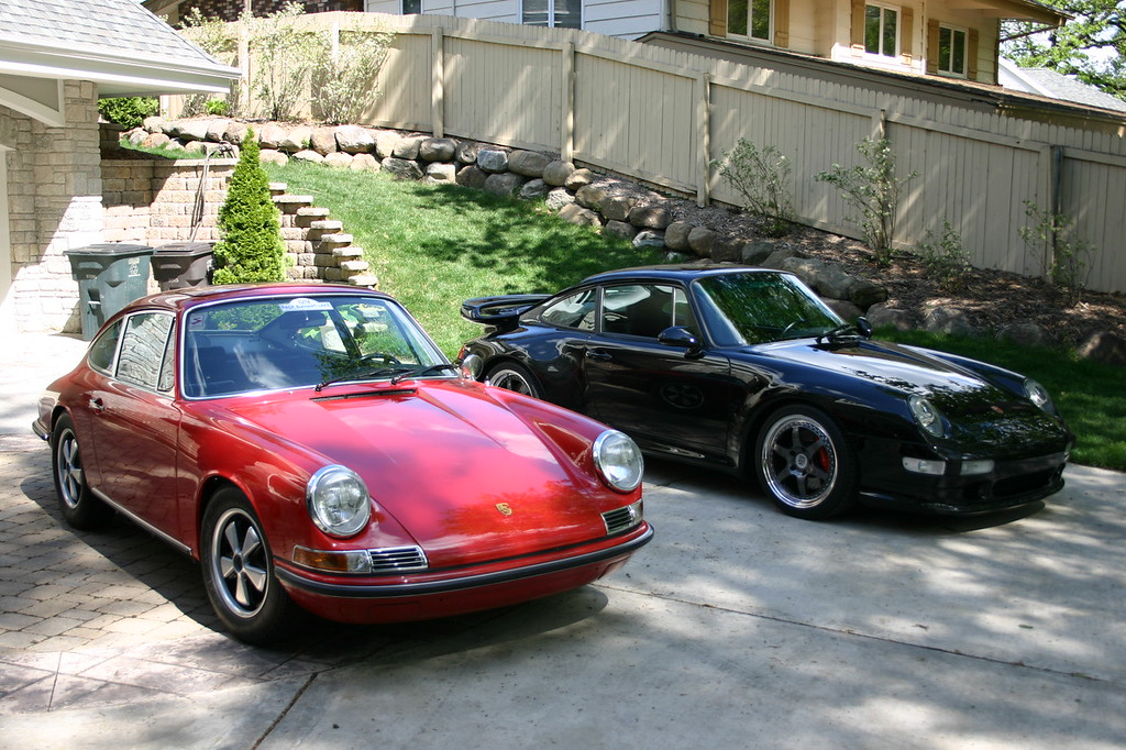 Next to my former 1968 911S with its original paint.
