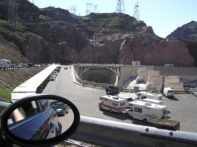 Making our way back toward the Nevada side of the dam.