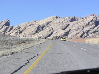 I-70 through Utah is quite scenic most of the time. This location is just west of Green River.