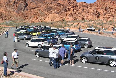 About 75 MINIs packed the lot.