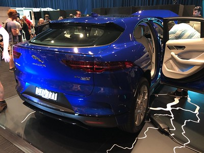 Jaguar I Pace EV 400 AWD - Phone pics - Australian Electric Vehicle Association (AEVA) 2018 Electric Vehicle Conference & Expo - Brisbane Convention & Exhibition Centre (BCEC), South Bank, Brisbane, Queensland, Australia; Saturday 10 November 2018. Phone photos by Des Thureson - http://disci.smugmug.com