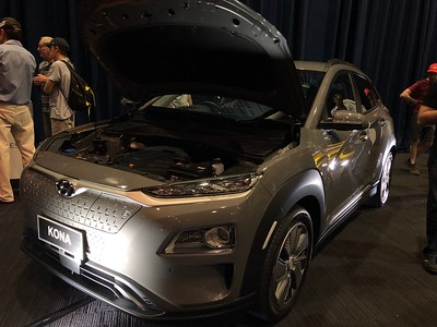 Hyundai Kona - Phone pics - Australian Electric Vehicle Association (AEVA) 2018 Electric Vehicle Conference & Expo - Brisbane Convention & Exhibition Centre (BCEC), South Bank, Brisbane, Queensland, Australia; Saturday 10 November 2018. Phone photos by Des Thureson - http://disci.smugmug.com
