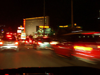 "Hundreds (?) of MINIs take to Las Vegas Blvd, better known as the ""Strip"" on Friday night."