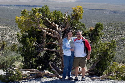 Rick & Wendy, after enjoying a picnic lunch in Red Rock Park, near Las Vegas.