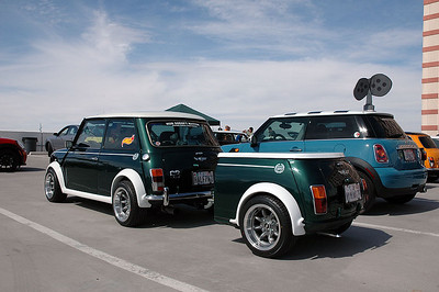 This classic Mini was towing a Mini trailer.