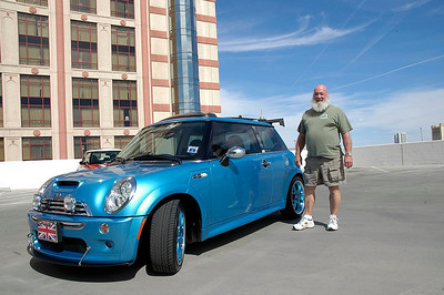 Luke and his electric blue show car, all the way from North Carolina.