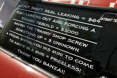 AMVIV Car Show 3/27/10. The reason for the borrowed MINI.