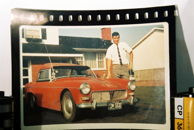 "This was my first car 1963 MG Midget with a 950cc engine a little bigger than a lawn mower! Price used $800.00. I bought it in 1968. I had a lot of fun, great memories. I had it repainted to British racing green. The doors opened with rope latches. The windows came off and put in the ""Boot"" (trunk). It was like driving a gocart you felt every bump in the road."