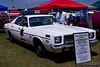 "1975 Plymouth Fury restored to resemble ""Dukes of Hazzard"" sheriff's car."