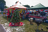 Chirstmas in July at the East Coast Car and Truck Club tent.