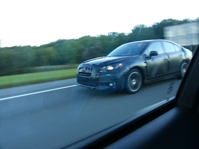 Honda Accord test mule spotted heading eastbound on I-84