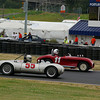 """""""# 11 - 1951 Crosley Almquist Saber - driven by Bruce Glascock - leading if only for a little bit - the #55 Cooper Porsche of Cameron Healy"""""""