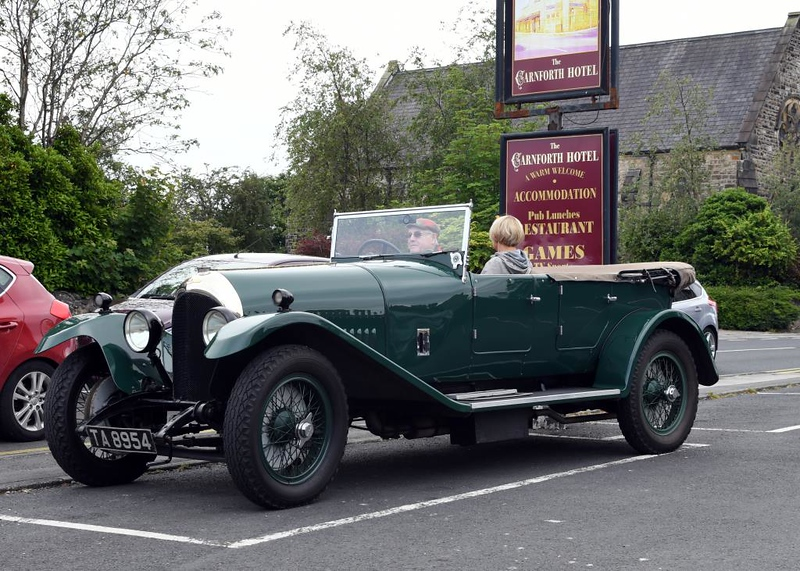 Bentley, Carnforth, 10 July 2019 1.  Looking for an Alvis convoy.