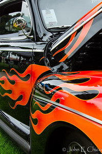 It's not a car show without flames.