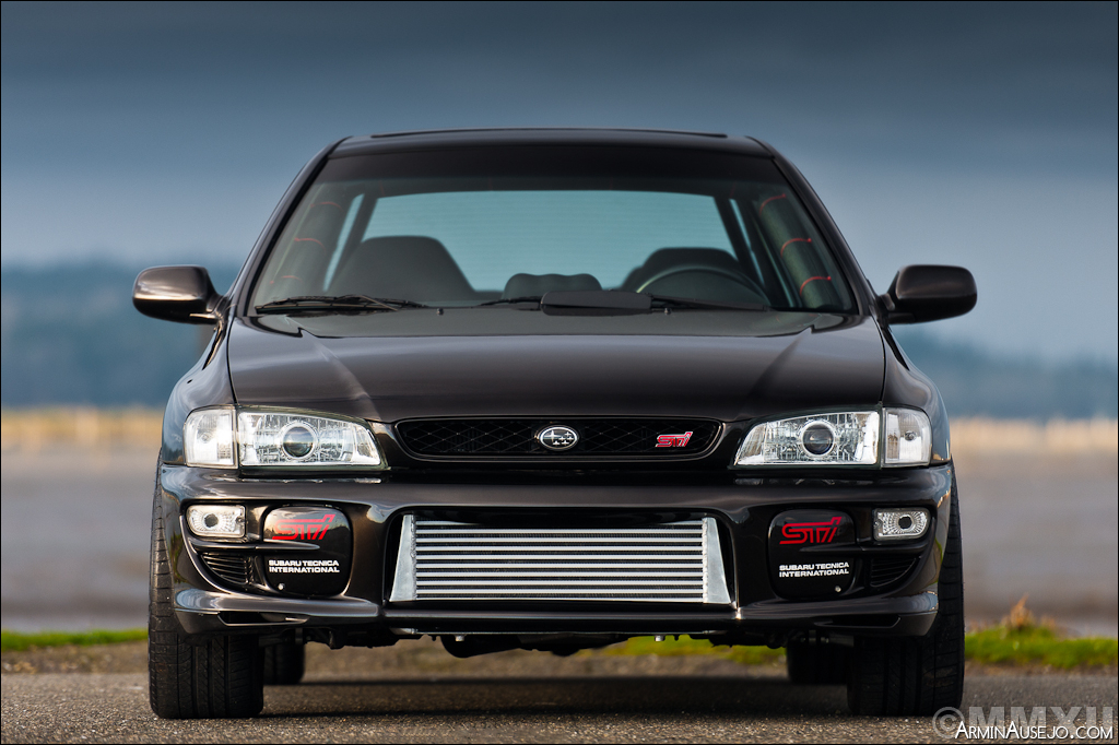 Front face of Andrew's Subaru RSTI