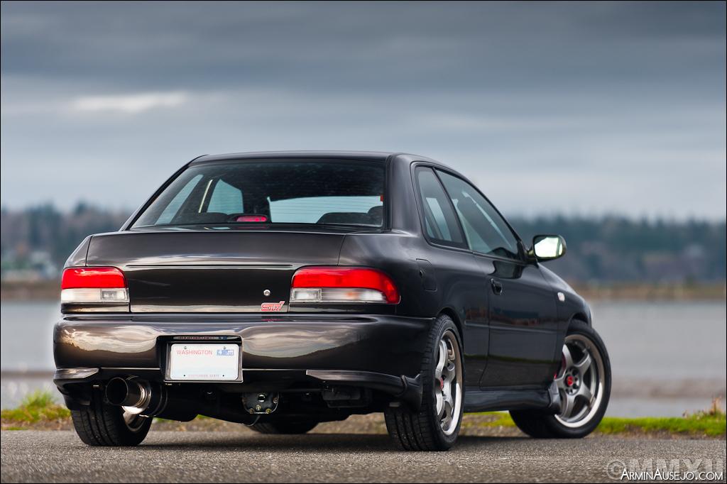 Rear of Andrew's Subaru RSTI