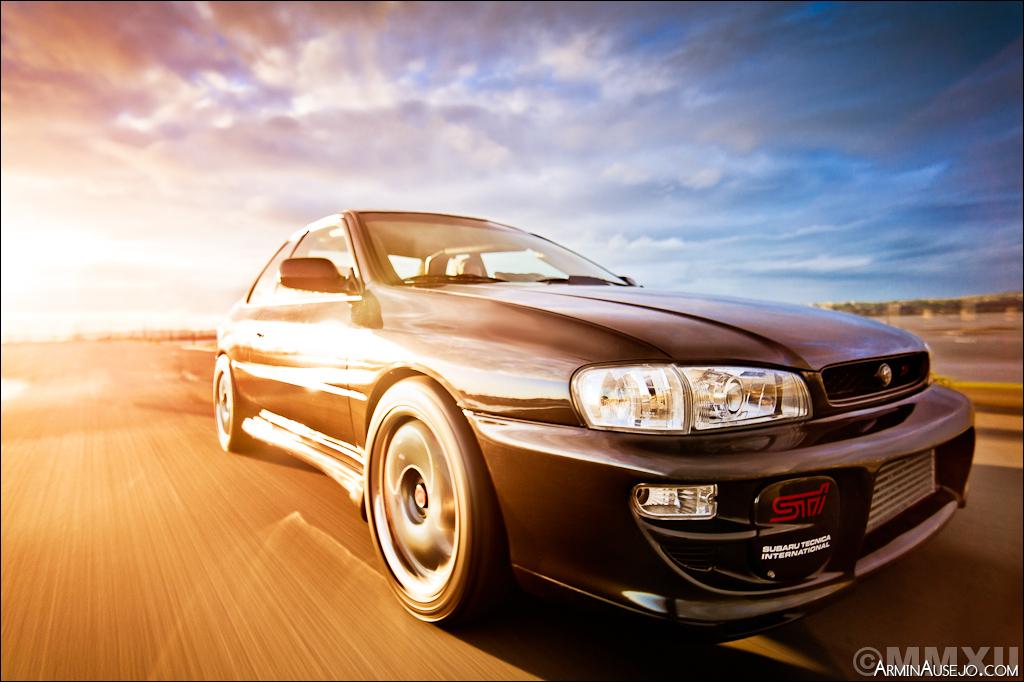 Rig shot of Andrew's Subaru RSTI