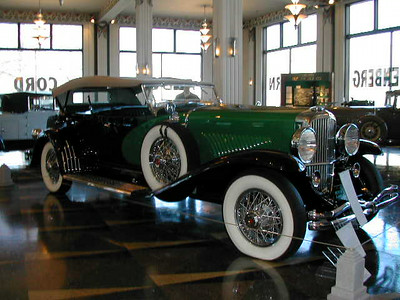 Antique cars 2-Dusenbergs at the Auburn Cord Museum