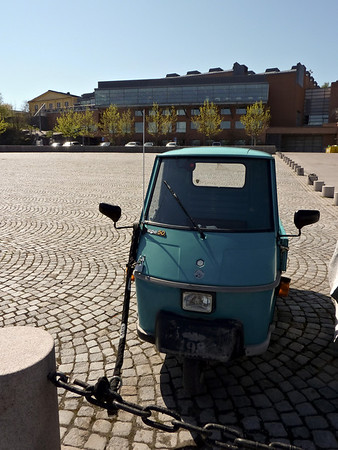Piaggio Ape near Moderna Museet in Stockholm