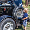An Old Race Car, and a Future Race Car Driver?????<br /> Italian Car Show Grapevine 09-08-12