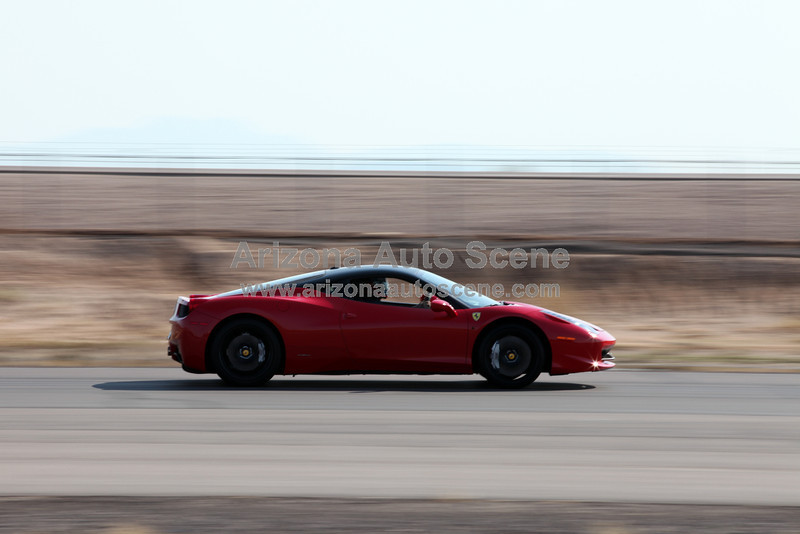 Ferrari Showed in Numbers for the August AZ SuperCar Track Club