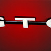 The GTO logo looking good on an amazing paint job.