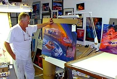 George Bartel in studio