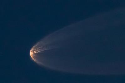 Delta II rocket launch stage 1 separation