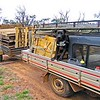Another load of pallets from Buffalo we have to dispose of. Spanner and his wind break. Mitsubishi.