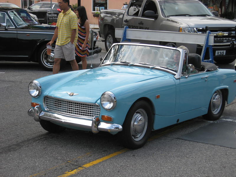 Triumph Sprite, later model then the frog-eye type.