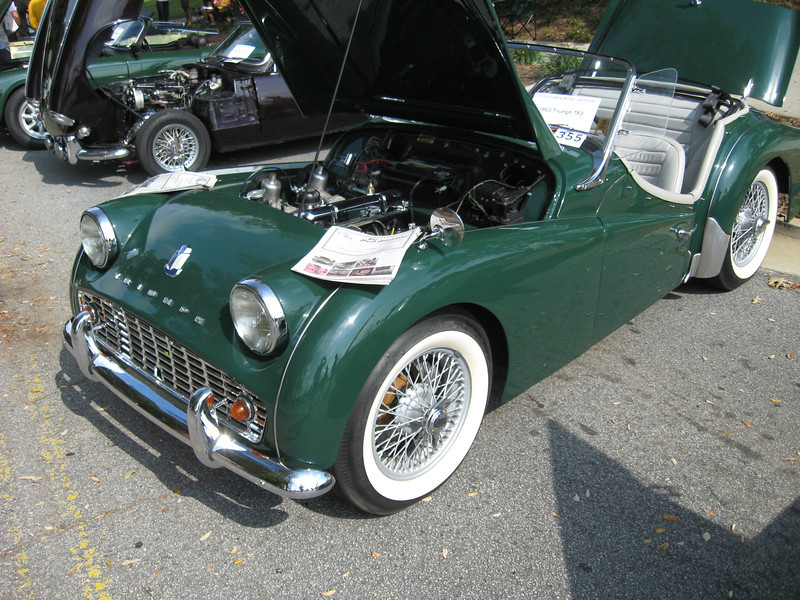 This picture and next: GORGEOUS Triumph TR3.