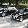 New BMW-made Mini with British original.  Photograph does not justice to how striking the size-difference really is.