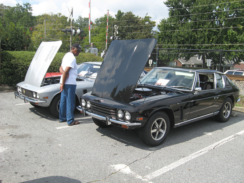 How often do you get to see TWO Jensen Interceptors in the same place?