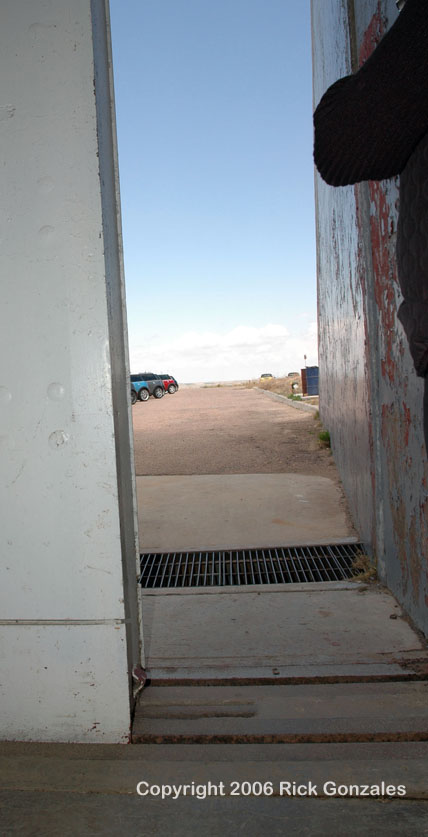 Slowly the blast doors (opened to deliver the missile) close out the brutal southwest Nebraska wind.