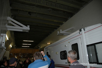 """The roof is composed of concrete and steel. this is the """"coffin"""" door that originally slid open for a launch."""