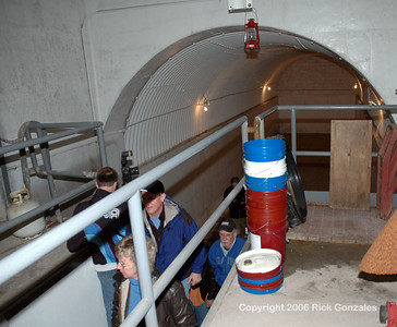 The round top room formerly housed a large, stainless steel liquid oxygen storage tank which fueled the Atlas.