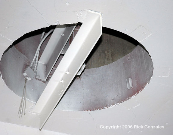 One of several ceiling vents in the missile bay.