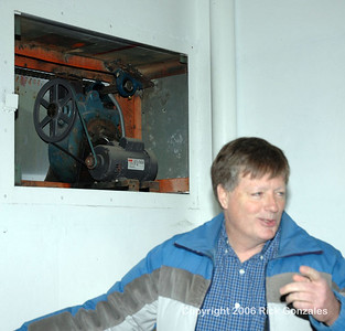 Don shows the small motor that is now makes opening the missile bay entrance door much easier than in the 1960's.