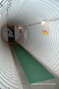 Part of the 120 ft long passage, known as the cable tunnel, between the missile bay and the launch operations building.