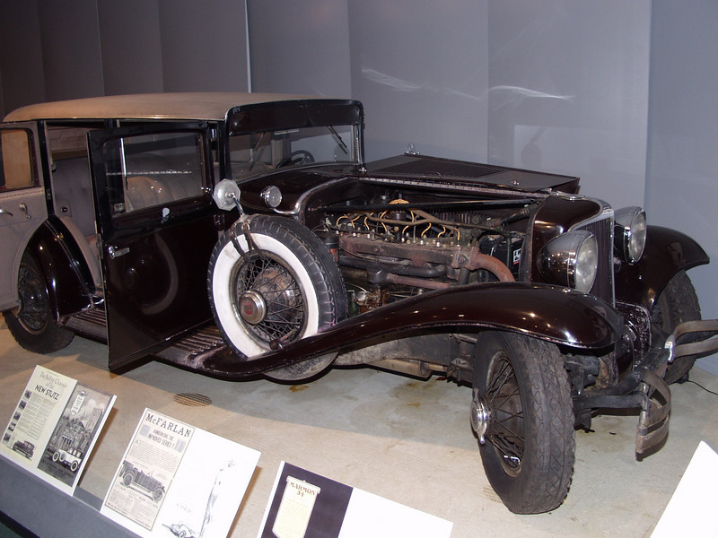 The Cord was the first mass produced front wheel drive American automobile and it was built here in Auburn. This car is an incredibly original example that is an important historical artifact documenting the way in which Cords were originally produced. This vehicle was built in October of 1929 which was the first full month of production. It is perhaps the earliest surviving unrestored example of an L-29. During the production run, many recalls, changes and updates were made on the L-29 such as changing the size of the wheel spokes and moving the battery to the side of the vehicle from under the hood. None of these changes was performed on this vehicle which makes it a great  example of the initial production run of Cords