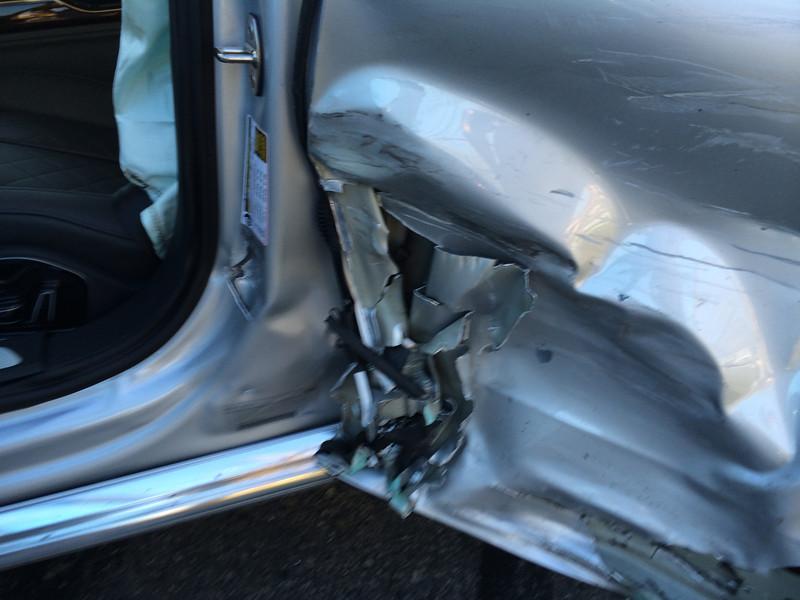 Note frame and unibody damage.