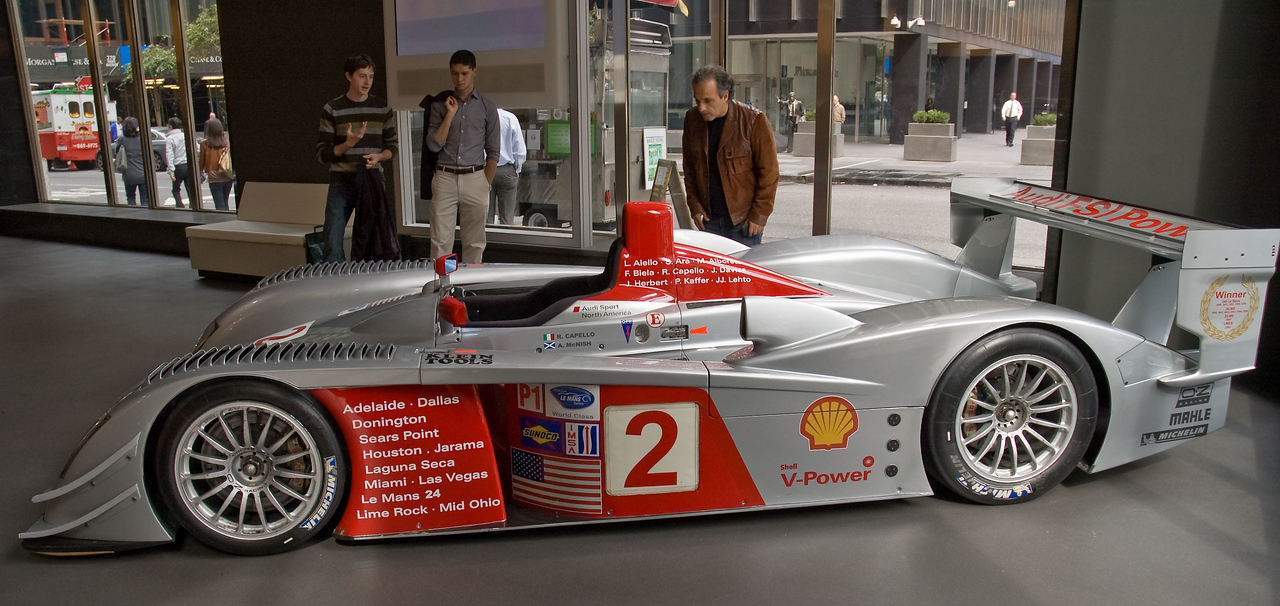 The R8 is one of the most successful racing prototypes of all time. In fact the argument can be made that it is the most successful of all time. This example was apparently last raced in 2006.